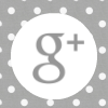 grey white polka dot google plus  social media icon