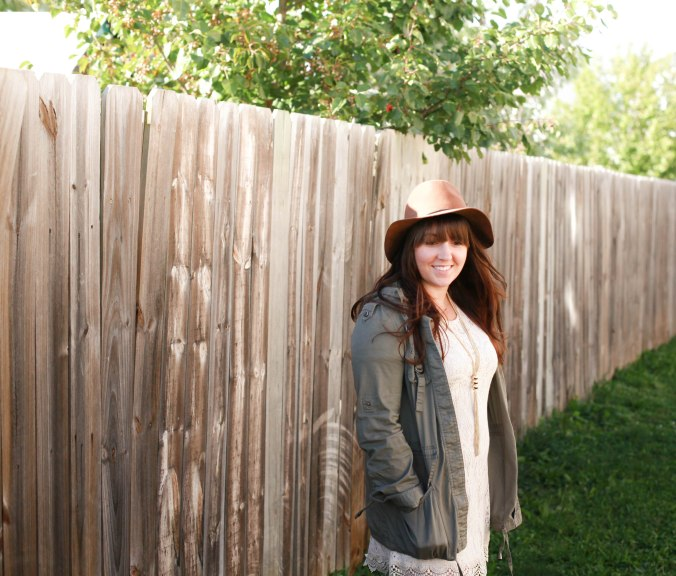 Fall Lace and Wool Fedora Hat