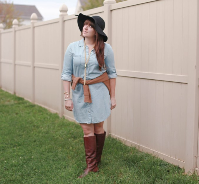 How I Wore My Denim Dress