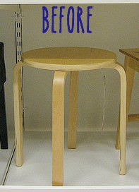 DIY Gold Dipped Stool