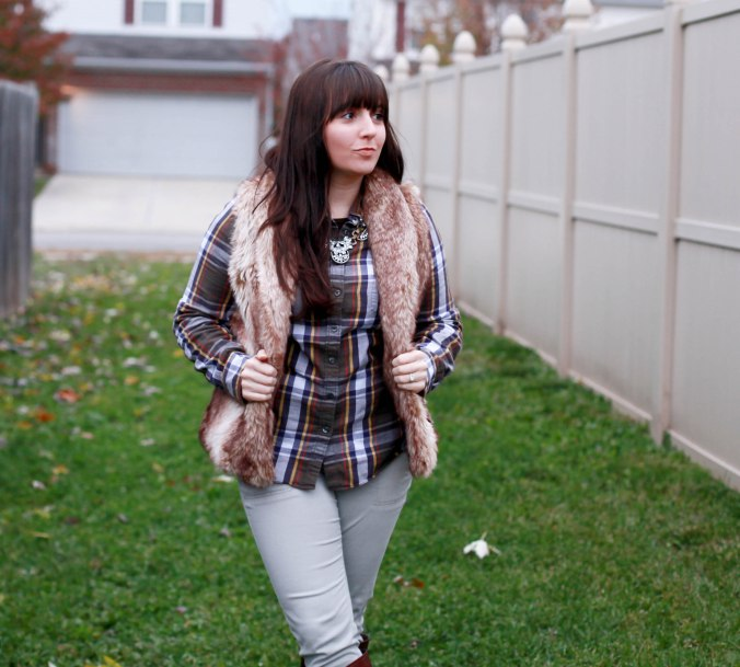 Plaid + Faux Fur