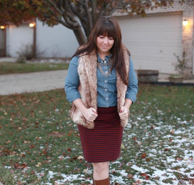 Chambray + A Pencil Skirt
