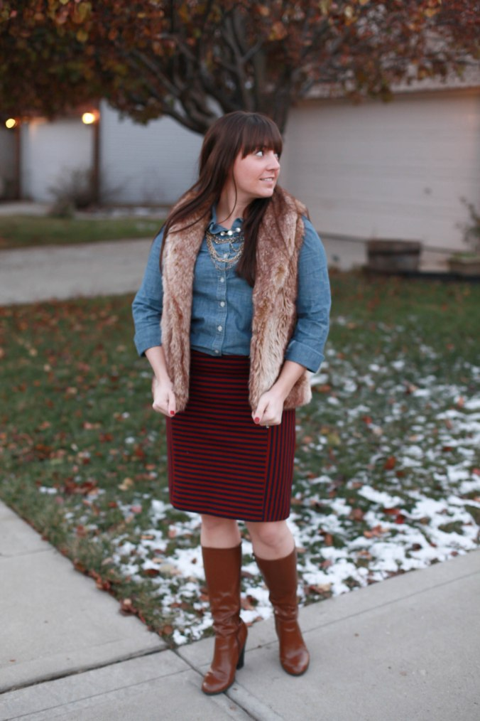 Chambray + A Pencil Skirt