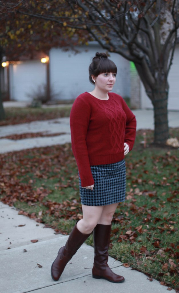 Houndstooth and Oxblood