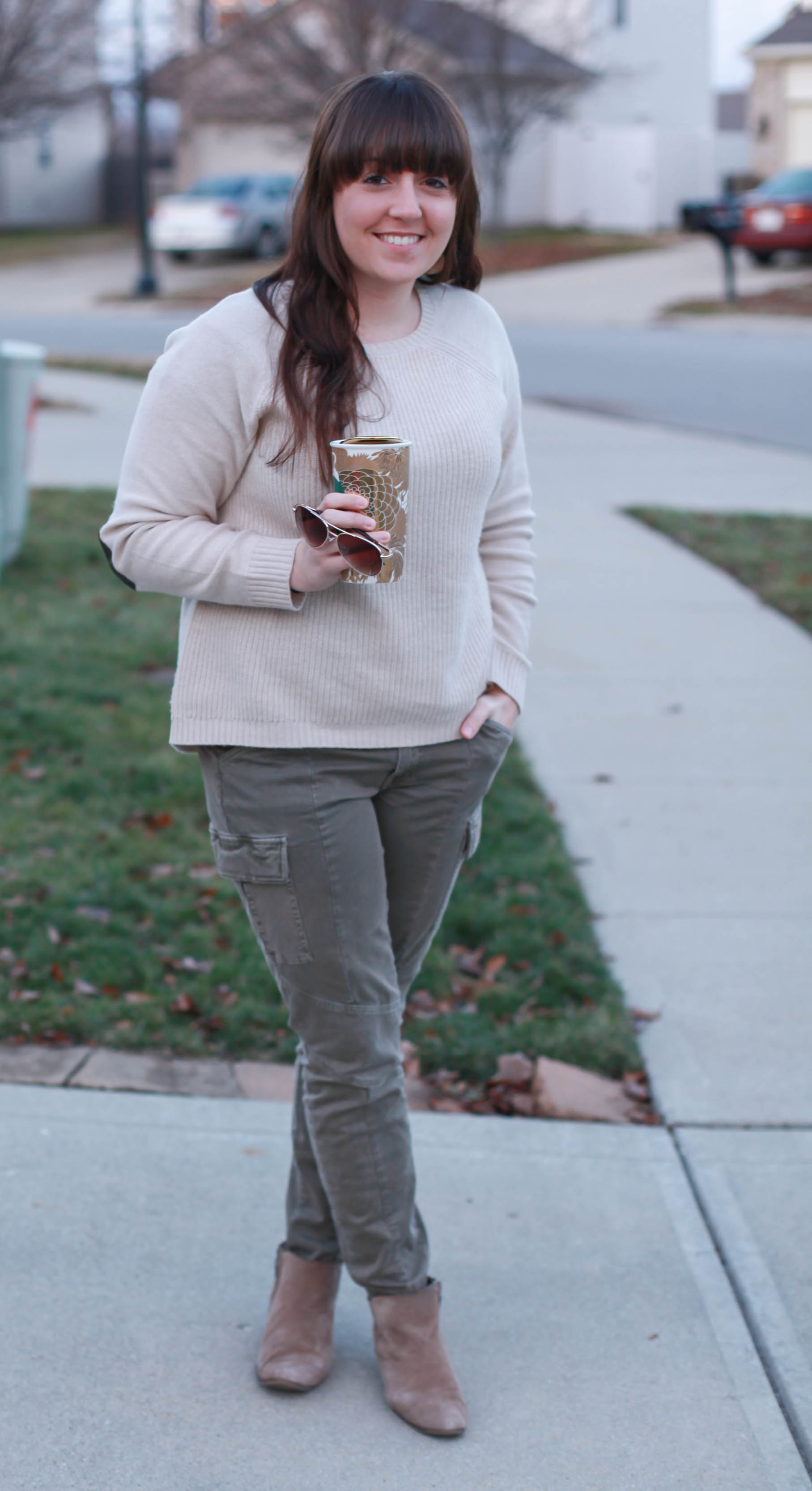 an Elbow Patch Sweater