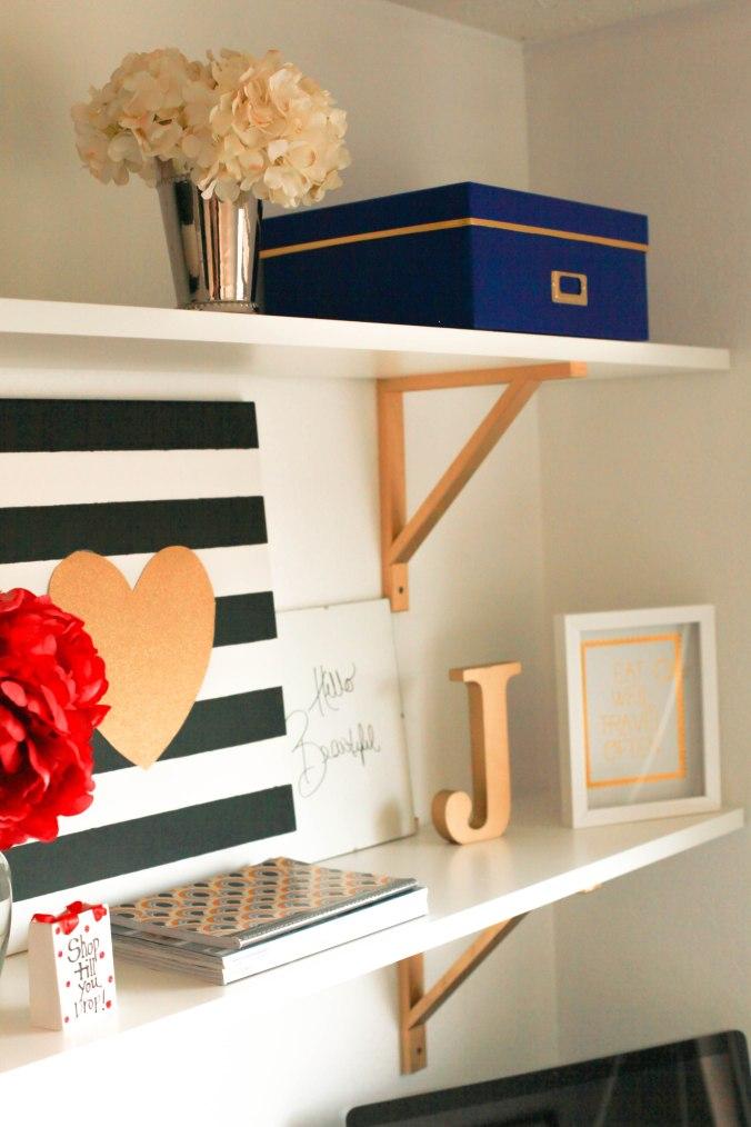 Home Office DIY Shelves