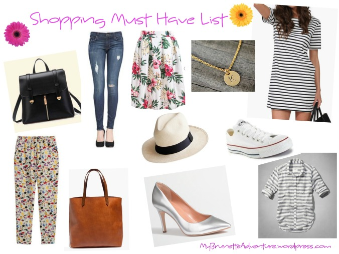 Shopping Must Have List
